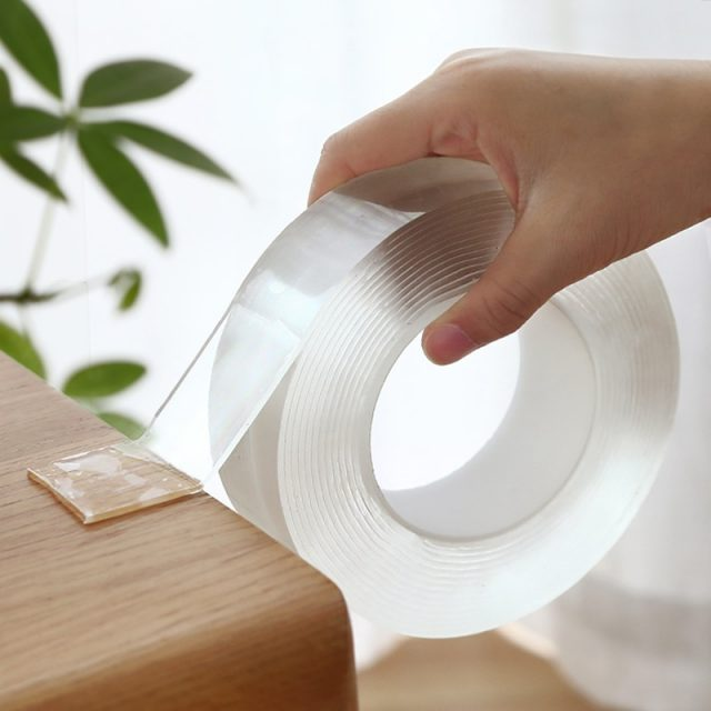 1M/3M/5M Nano Magic Tape Double Sided Tape Transparent NoTrace Reusable Waterproof Adhesive Tape Cleanable Home