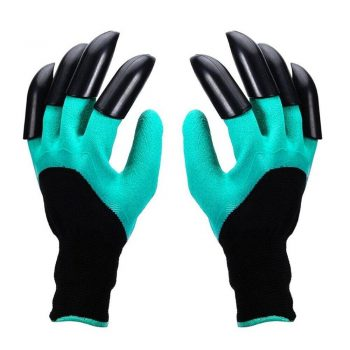 Hand Claw ABS Plastic Garden Rubber Gloves Gardening Digging Planting Durable Waterproof Work Glove Outdoor Gadgets 2 Style